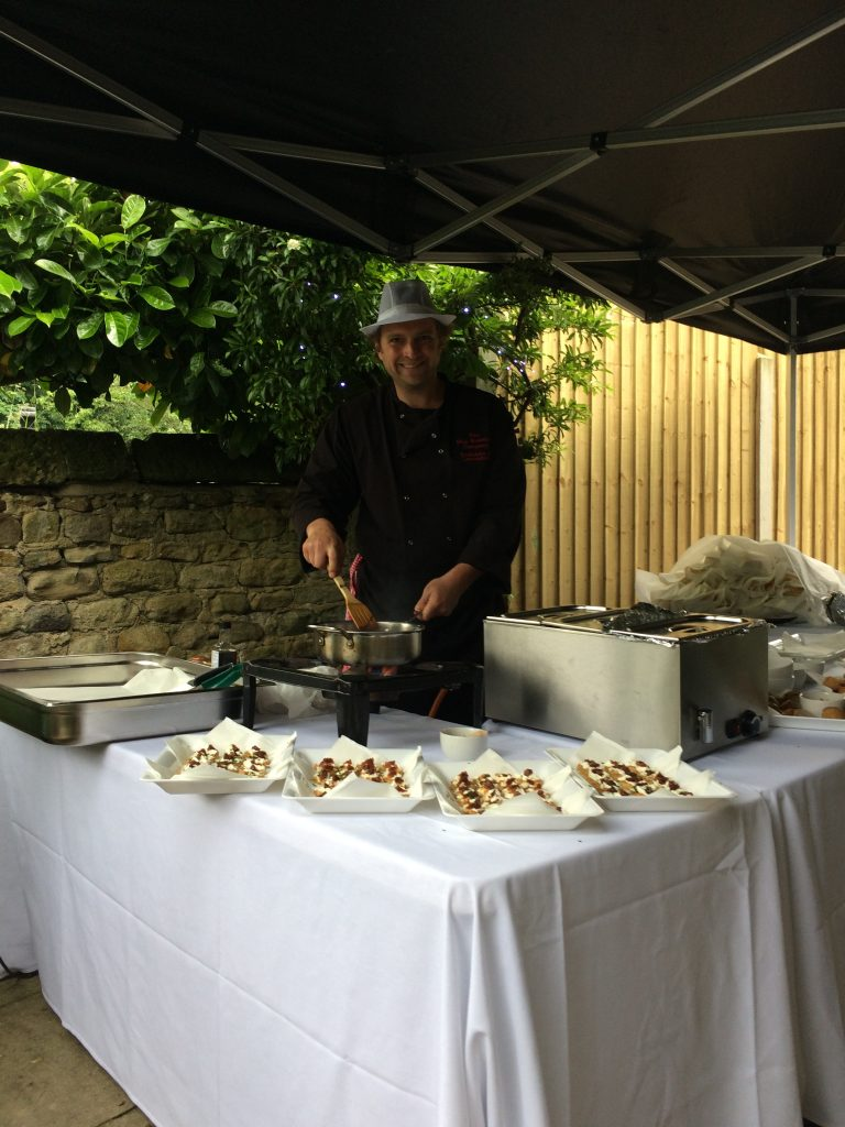 hog roast pan fried chorizo canapes in otley